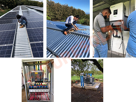 Futuresolar Complete 500kW Grid-tie Solar System for Farm in Panama